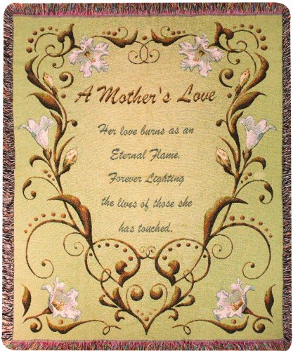 Manual Mothers Day Collection 50 x 60-Inch Tapestry Throw, A Mother's Love Poem