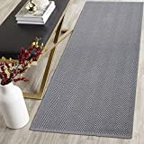 HEBE Extra Long Cotton Area Rug Runner 2'x6' Washable Reversible Hand Woven Cotton Runner Rug Floor Mat Carpet for Kitchen Bedroom Entryway Hallway Laundry Room,Chevron Grey