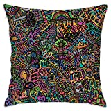 TRK-KWQDF Reddit Graffiti Throw Pillows Covers for Couch/Bed 18 X 18 Inch, Print for Textile Wallpaper Pattern Home Sofa Cushion Cover Pillowcase Gift Bed Car Living Home