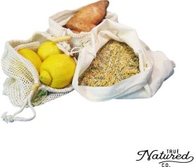 Natural Eco-Friendly reusable grocery produce bags