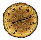 Springfield 91719 12' Tree Trunk Cross Section Polystone Thermometer