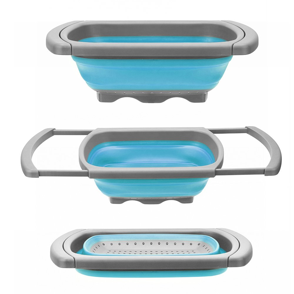 Amazon.com: Glotoch Kitchen Collapsible Colander This over the sink colander fits perfectly in our RV and boat sink.. and it collapses for easy storage.
