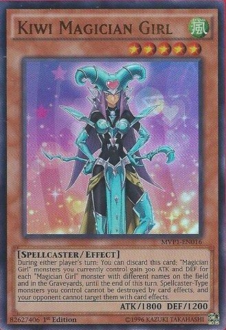 Yu-Gi-Oh! - Kiwi Magician Girl (MVP1-EN016) - The Dark Side of Dimensions  Movie Pack - 1st Edition - Ultra Rare - Toys
