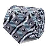 DC Comics Superman Gray Plaid Men's Dress Tie