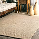 Hand Woven Casual Solid Cotton Area Rug