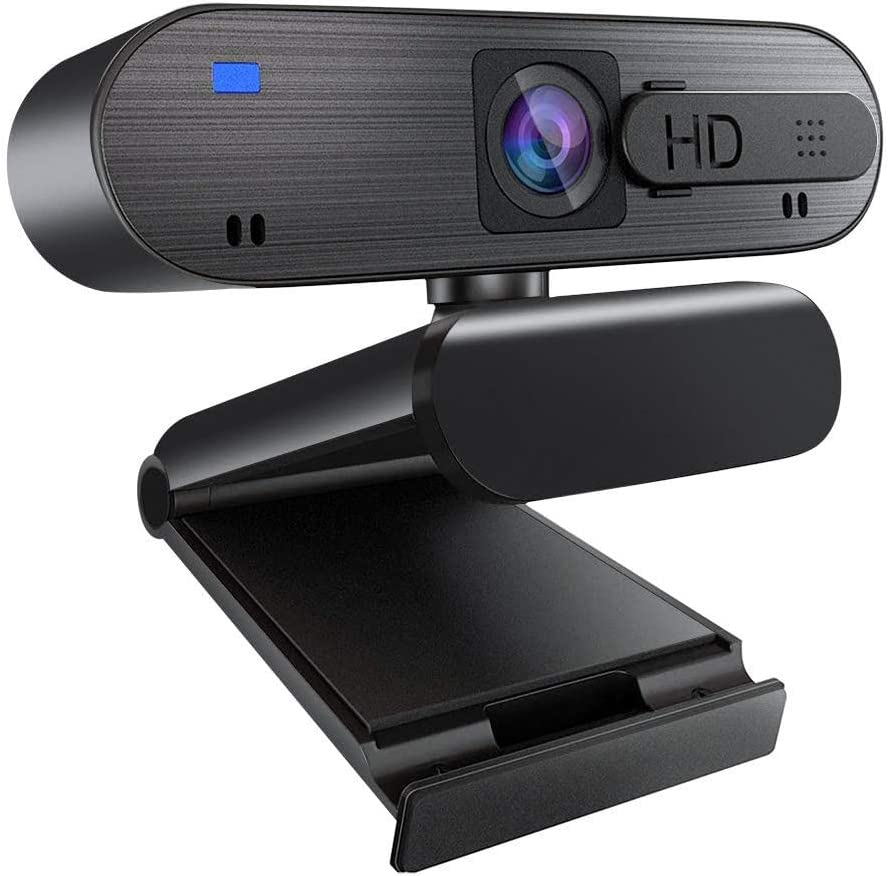 HD 1080P Webcam with Microphone & Privacy Cover, Auto Focus Streaming Camera, Computer Laptop Camera for Video Streaming, Conference, Gaming, Online Classes, Compatible for Linux Mac OS Windows 10/8/7