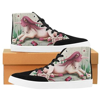 InterestPrint Pony Unicorn High Top Shoes for Women