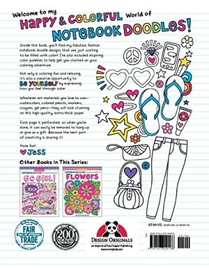 Notebook Doodles Fabulous Fashion: Coloring & Activity Book (Design Originals) 30 Fashionable Designs; Beginner-Friendly Inspiring Art Activities on High-Quality, Extra-Thick Perforated Paper