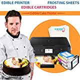 Edible Printer Bundle for Canon Wireless by Icinginks,EdiblePicture Printer for Cakes Includes Latest Cake Printer Machine, Edible Cartridges, 24 Frosting Sheets and Free Edible Designing