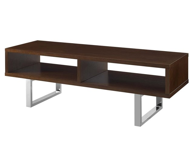 Amazon Com Modway Eei 2681 Wal Amble Contemporary Low Profile 47 Inch Tv Stand Walnut Kitchen Dining