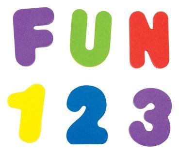 Letras y números para la bañera Munchkin