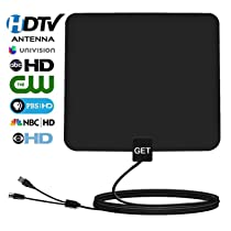 Amplified TV Antenna – Get 50 Miles Range Amplified Indoor Digital HDTV Antenna -Detachable Amplifier Signal Booster-USB Power Supply-13ft High Reception Coax Cable …