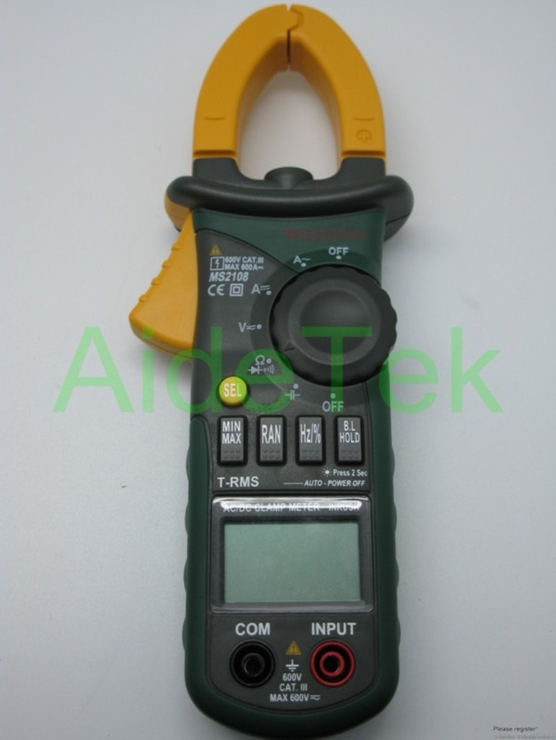 Amazon.com : Mastech MS2108 AC/DC Clamp Meter A high quality but affordable way to measure electrical currents for both DC and AC loads.