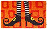 Entryways Wicked Witch Shoes Handmade, Hand-Stenciled, All-Natural Coconut Fiber Coir Doormat,  18' X 30' X .75'