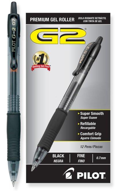 Pilot G2 Retractable Premium Gel Ink Roller Ball Pens review