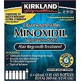 6 Months Kirkland Minoxidil 5 percentage Extra Strength Hair Loss Regrowth Treatment Men, 2 Fl Oz, 6 Pack
