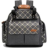 Lekebaby Diaper Bag Backpack Convertible Tote Messenger Bag for Mom Durability and Versatility, Clovers Print
