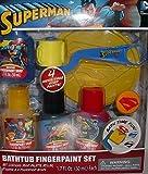 Superman Bathtub Fingerpaint Set - 4 Mess Free Soap Paints - Bath Time Fun