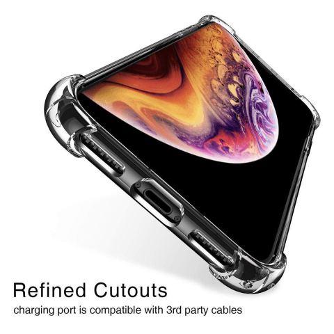 iPhone XR ケース ハード PC + ソフト TPU クリア クリスタル ストラップホール シリコン 軽量 全面クリア レンズ保護 耐衝撃 薄型 おしゃれ 携帯カバー アイフォンXR ケース