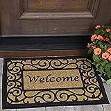 Ottomanson Ottohome Collection Rectangular Welcome Doormat (Machine-Washable/Non-Slip), Beige, 20' X 30'