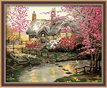 Diy Oil Painting Paint By Number Kit My Dream House 16 20 Inch