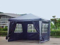 Kronenburg Pavillon PE Gartenzelt mit 4 Seitenteilen in Blau von Kronenburg
