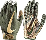Nike Adult VaporKnit 2.0 Receiver Gloves 2018 (L, Olive/Gold)