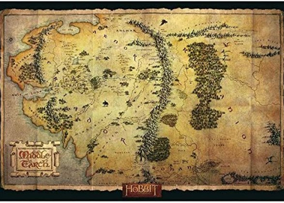 "ABYstyle - THE HOBBIT - poster ""Middle Earth Map"" (91,5 x 61)"