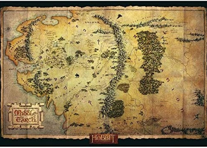 """ABYstyle - THE HOBBIT - poster """"Middle Earth Map"""" (91,5 x 61)"""