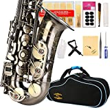 ENGRAVED FLOWER DESIGN-Glory High Grade Antique finish series PR4, E Flat Alto Saxophone with 11reeds,8 Pads cushions,case,carekit