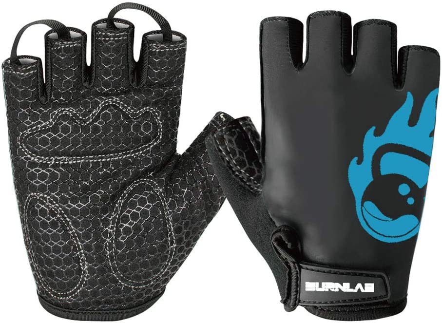 Burnlab Flex Gym Gloves for Men and Women - Ideal for Weightlifting, Cycling, Crossfit, Offers Good Grip and Soft Padding