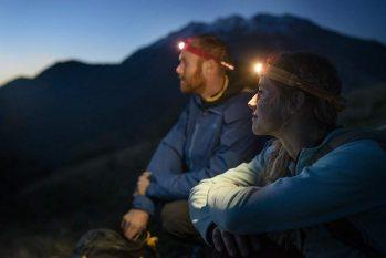 登山,ヘッドライト