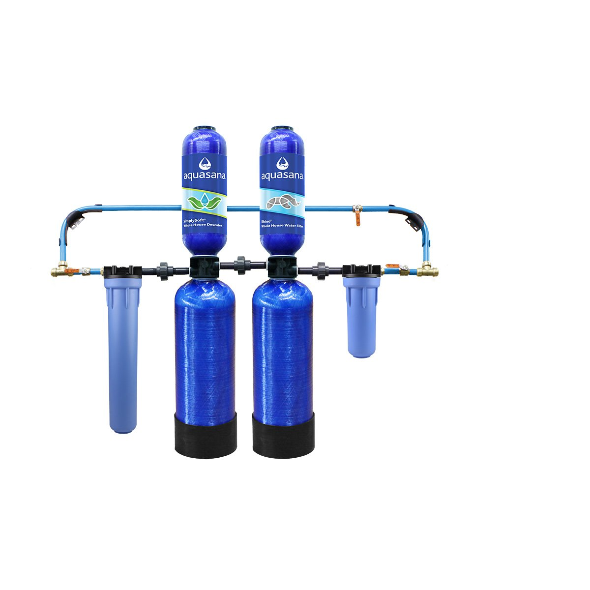 Whole House Water Filter with Salt-Free Softener and Professional Installation Kit