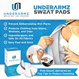 Armpit Sweat Pads. Fight Hyperhidrosis With Underarm Sweat Pads for women and men.  28 Sweat pads [14 pairs Individually Wrapped] Disposable Garment Guards For Women and Men
