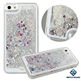 iPhone 6s plus case,iphone 6 plus case, liujie Liquid, Appmax Cool Quicksand Moving Stars Bling Glitter Floating Dynamic Flowing Case Liquid Cover for Iphone 6s plus 5.5inch (silver)