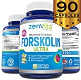 100% Pure Forskolin Extract 600mg - w/ 40% Standardized Forskolin for Weight Loss | Effective Appetite Suppressant, Carb Blocker & Max Strength Weight Loss Pills for Women & Men | 90 Capsules