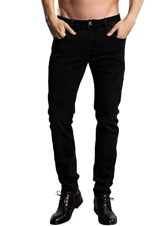 jens y pantalones negros para hombre