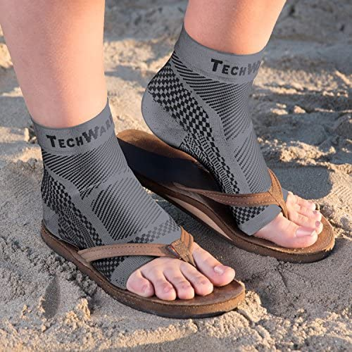 TechWare Pro Ankle Brace Compression Sleeve - Relieves Achilles Tendonitis, Joint Pain. Plantar Fasciitis Sock with Foot Arch Support Reduces Swelling & Heel Spur Pain. Injury Recovery for Sports 9