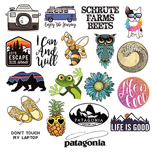 Cute Patagonia Stickers Adventure Camping Outdoor Hiking Nature Explore Waterproof Vinyl Stickers for Water Bottle Laptop Luggage Skateboard Car Guitar Stickers Decals 19PCS Pack