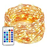 xtf2015 99FT 300LEDs String Lights, Waterproof Dimmable Decorative Fairy Lights with Remote Control, Christmas Lights with UL Listed for Bedroom, Patio, Wedding and Party, Christmas Tree, Warm White