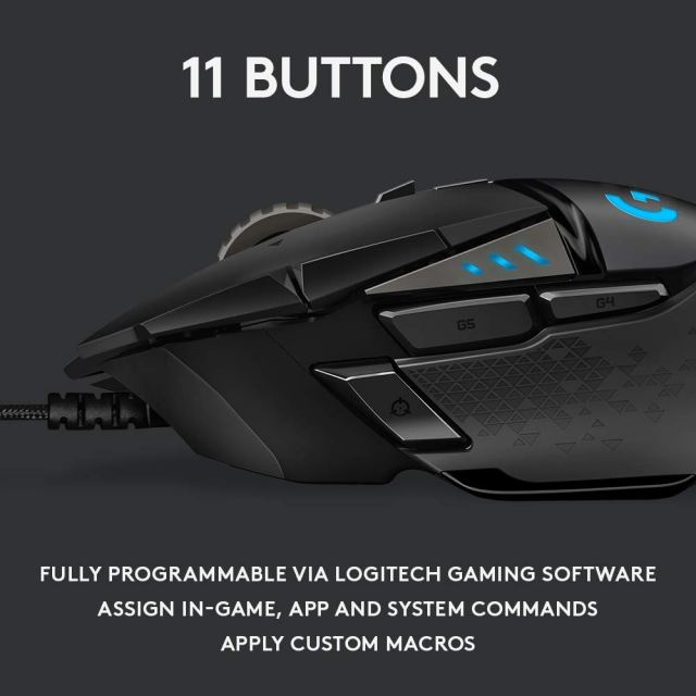 Logitech G502 LIGHTSPEED wireless gaming mouse specification, price & review