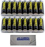 Powerex MH8AAPROBH [2700mAh, 1.2v] Pro AA NiMH Batteries (TWO 8-Packs w/Case) +JZS Cloth