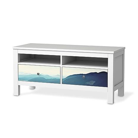 Mobili Pellicola Per Ikea Hemnes Tv Della Banca 2 Cassetti