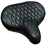Fito Made in Taiwan GS Beach Cruiser Bike Bicycle Saddle Seat with Spring Suspension (BLACK)