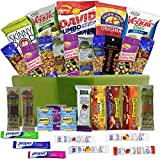 Healthy Snacks Care Package Gift Basket- 32 Health Food Snacking Choices - Quick Ready To Go - For Adults, College Students Gifts, Kids, Toddlers, Birthday Ideas - Say Thank You or Congratulations