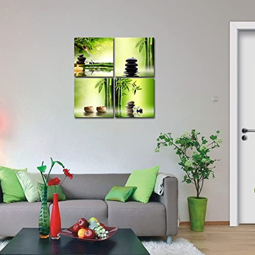 Spruce up your home with enchanting green wall art for Green wall art