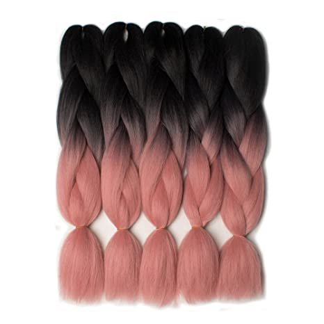 Ombre Braiding Hair Crochet Braids Synthetic Hair Extensions