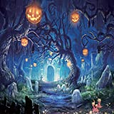 SJOLOON 10x10ft Halloween Vinyl Photography Backdrop Customized Photo Background Studio Prop 9536