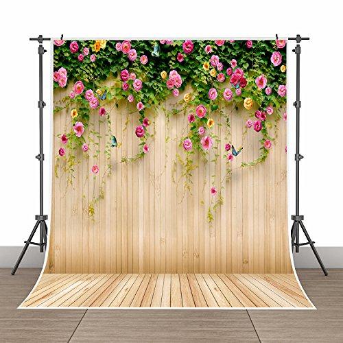 5x7ft Photography Background Vinyl Backdrop Paper Studio Props-Yellow Vertical Grainy Wood Grain