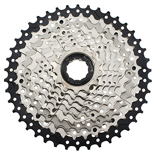 10 Speed Cassette 11-42 CYSKY MTB Cassette 10 Speed Fit for Mountain Bike, Road Bicycle, MTB, BMX, SRAM Shimano Sunrace 10 Speed Freehub Body (Light Weight)